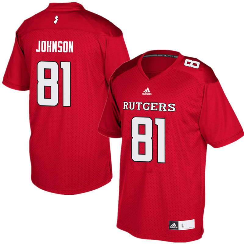 Men #81 George Johnson Rutgers Scarlet Knights College Football Jerseys Sale-Red