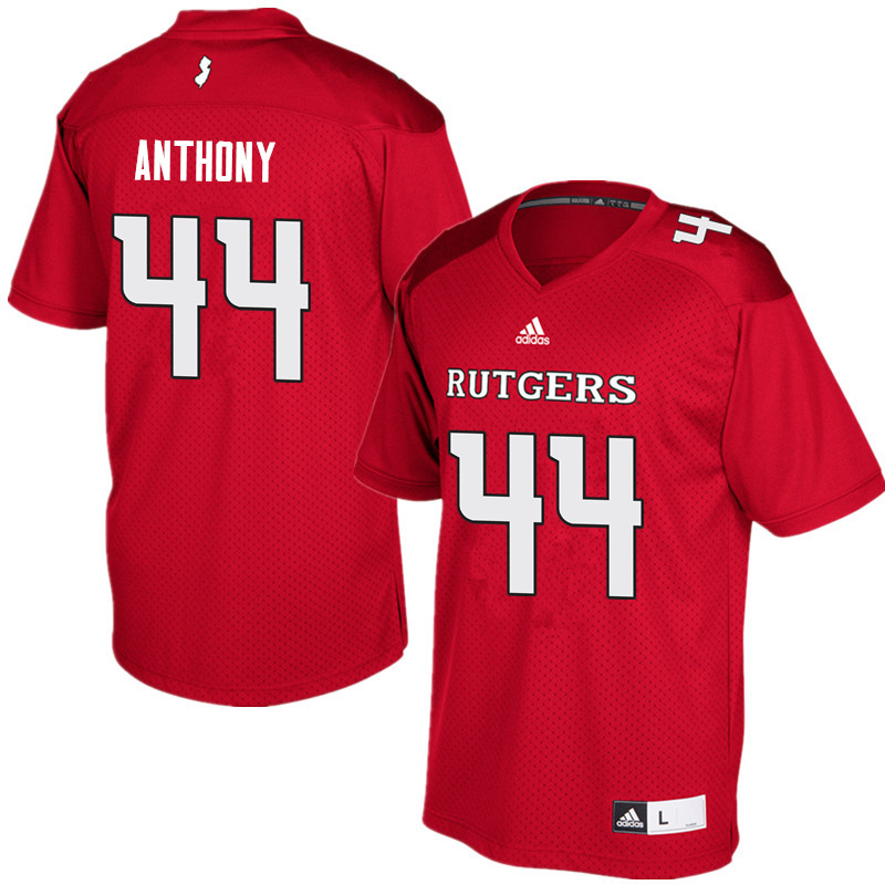Men #44 Max Anthony Rutgers Scarlet Knights College Football Jerseys Sale-Red