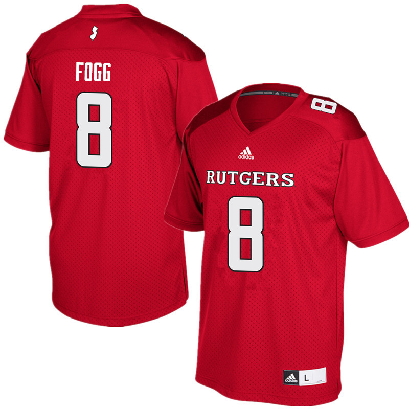 Men #8 Tyshon Fogg Rutgers Scarlet Knights College Football Jerseys Sale-Red
