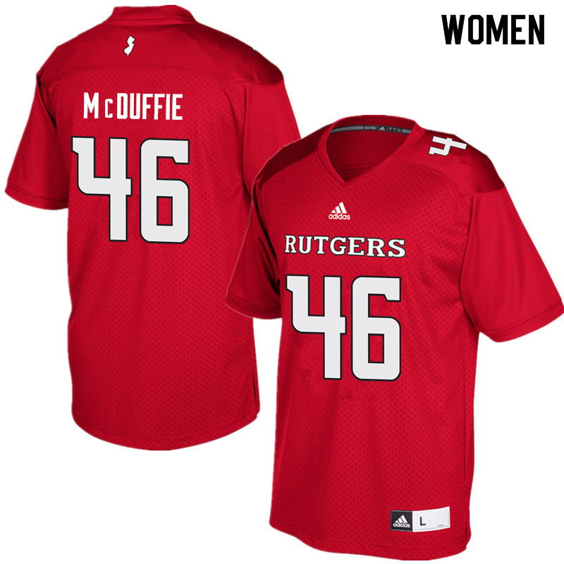 Women #46 Davante McDuffie Rutgers Scarlet Knights College Football Jerseys Sale-Red