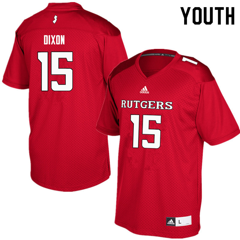 Youth #15 Malik Dixon Rutgers Scarlet Knights College Football Jerseys Sale-Red
