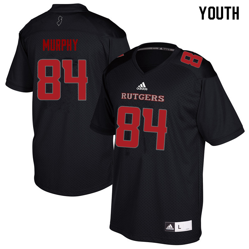 Youth #84 Cole Murphy Rutgers Scarlet Knights College Football Jerseys Sale-Black