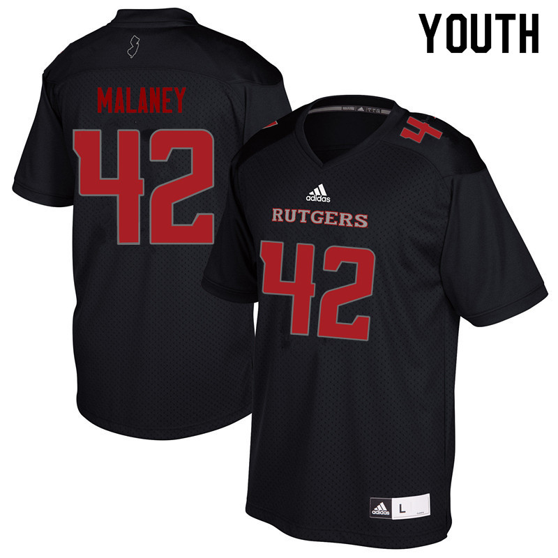 Youth #42 Jake Malaney Rutgers Scarlet Knights College Football Jerseys Sale-Black