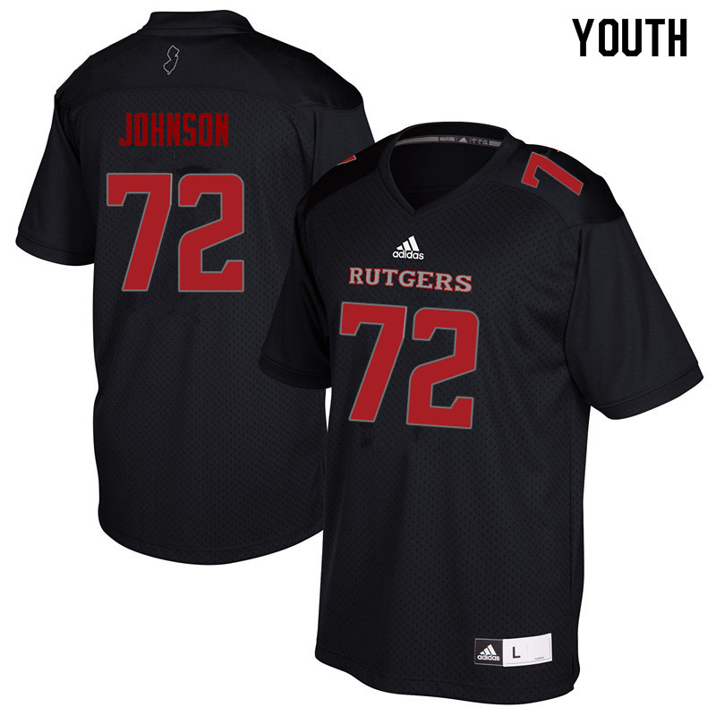 Youth #72 Kaleb Johnson Rutgers Scarlet Knights College Football Jerseys Sale-Black