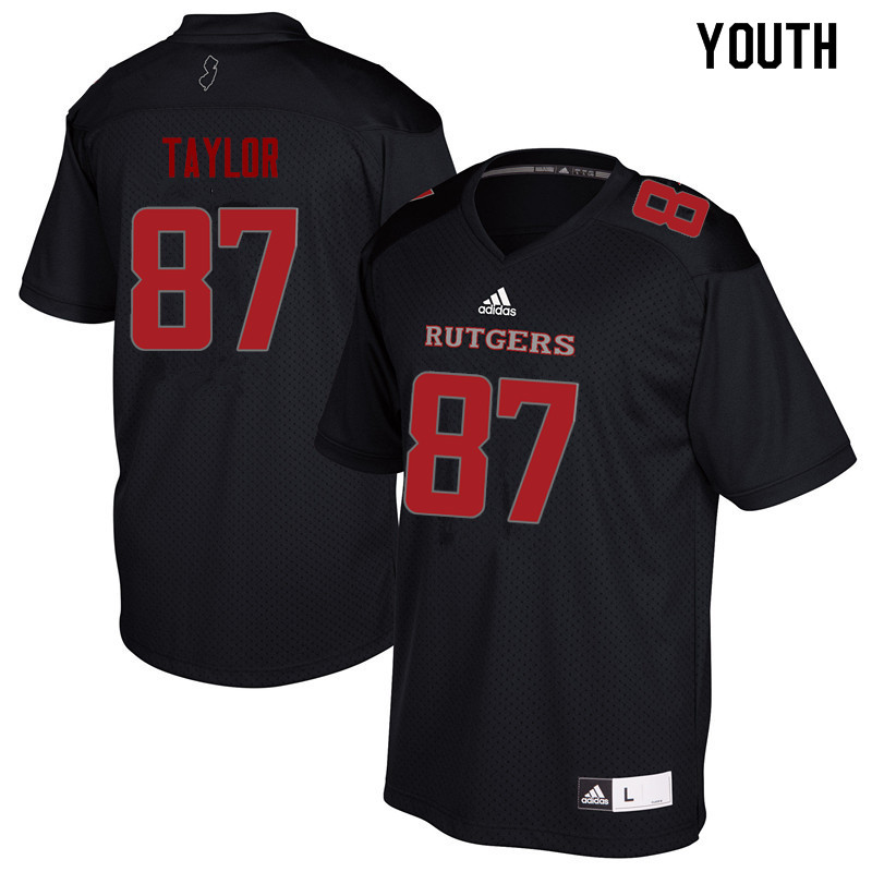 Youth #87 Prince Taylor Rutgers Scarlet Knights College Football Jerseys Sale-Black