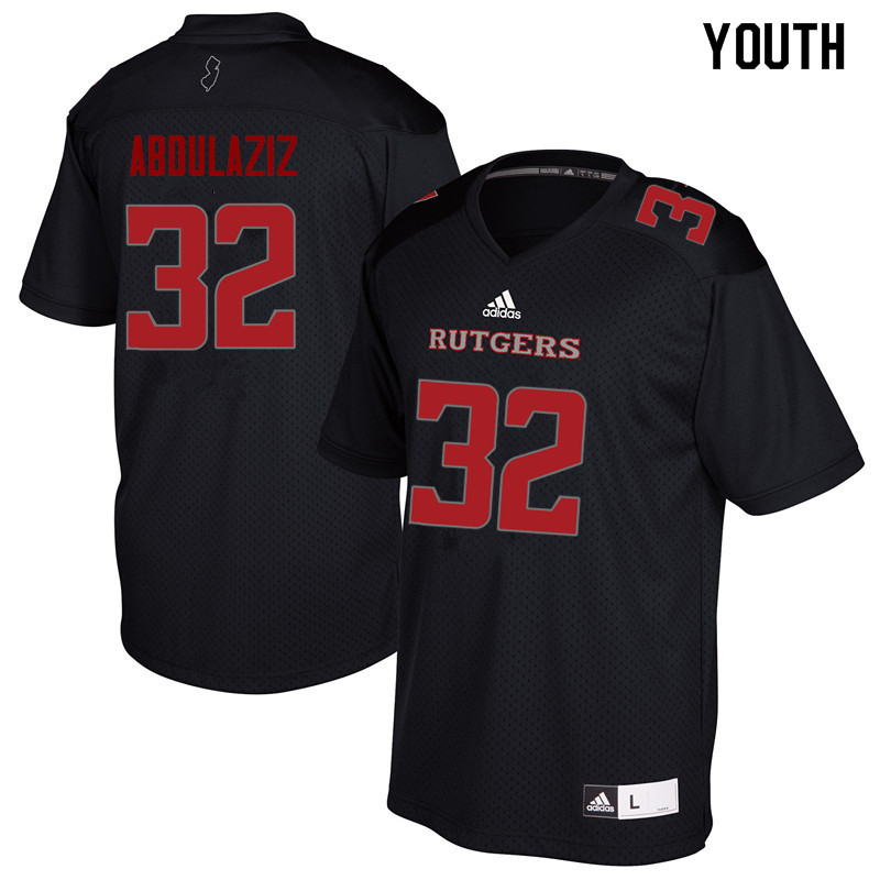 Youth #32 Rani Abdulaziz Rutgers Scarlet Knights College Football Jerseys Sale-Black